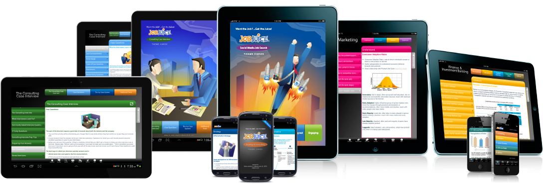 The job interview preparation apps for marketing, management consulting, investment banking and more.